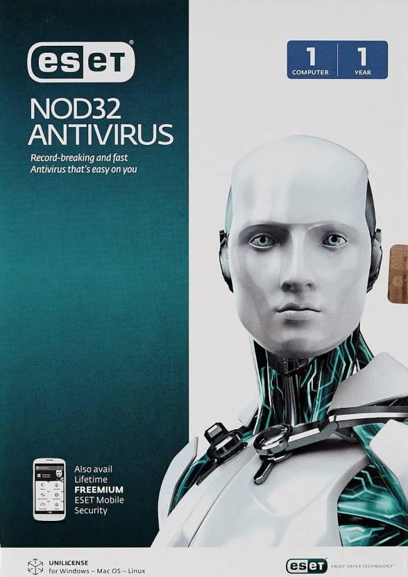 Eset NOD32 Anti-virus 2015 V8 1 PC 1 Year