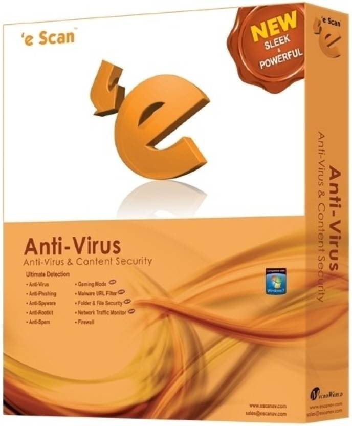 eScan Anti-Virus 2 PC 1 Year