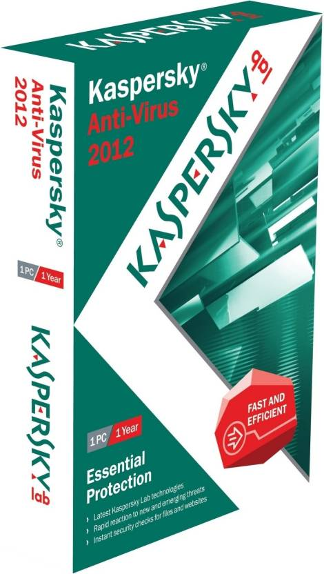 Kaspersky Anti-Virus 2012 1 PC 1 Year