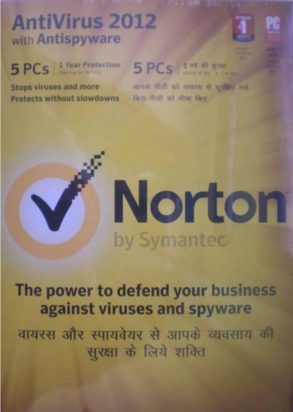 Norton AntiVirus 2012 5 PC 1 Year