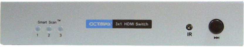 Octava 3x1 HDMI Switch Media Streaming Device