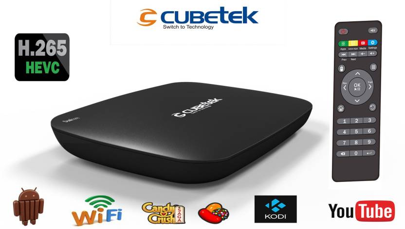 cubetek h 265v smart tv box kodi android kitkat quad core