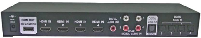 Octava 4x1 HDMI Switch Media Streaming Device