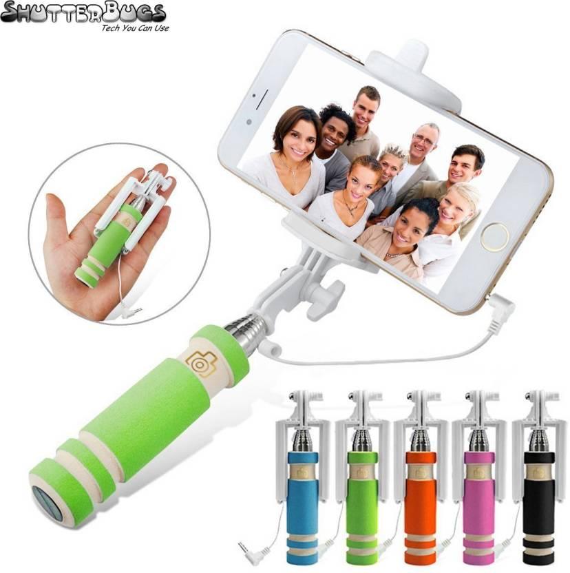 Upto 75% off On Selfie Sticks By Flipkart | Shutterbugs Monopod Selfie Stick For All Smartphones - Multicolor Selfie Stick Selfie Stick  (Multicolor) @ Rs.249