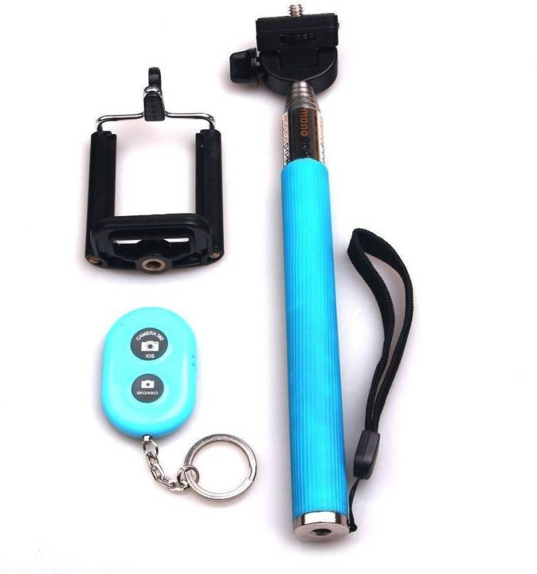 Get best deal for Acromax Selfie Stick with Bluetooth Remote for Samsung Galaxy A5 Monopod(Blue, Supports Up to 400 g) at Compare Hatke