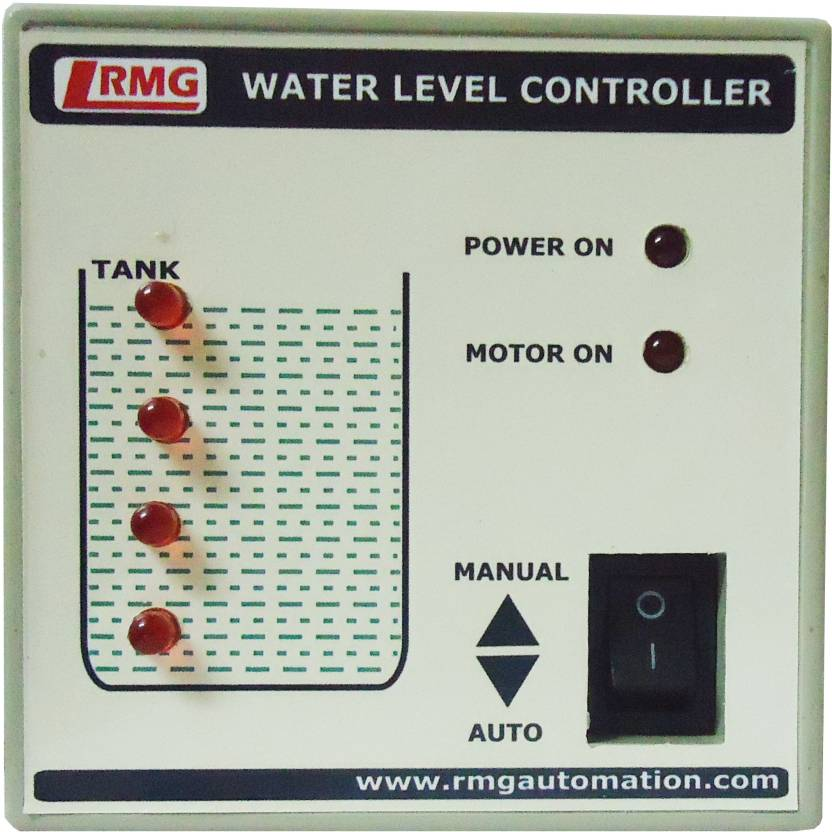 "RMG ""Automatic Water Level Controller With Indicator For Motor Pump Operated By Switch/Mcb Upto 1.5 Hp - Tank Only"" Wired Sensor Security System"