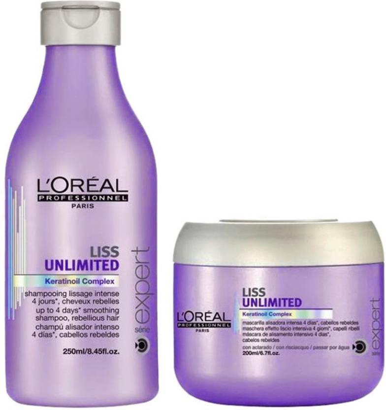 L Oreal Professionnel Liss Unlimited Shampoo (250 ml)   Masque (200 ml)  (450 ml) a70f6235cc1