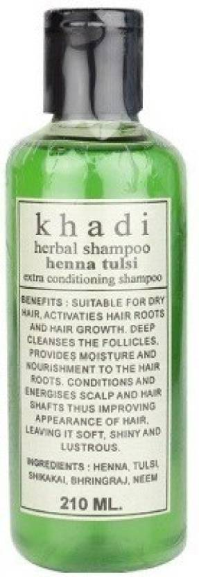 Khadi Herbal Henna Tulsi Shampoo Price In India Buy Khadi Herbal