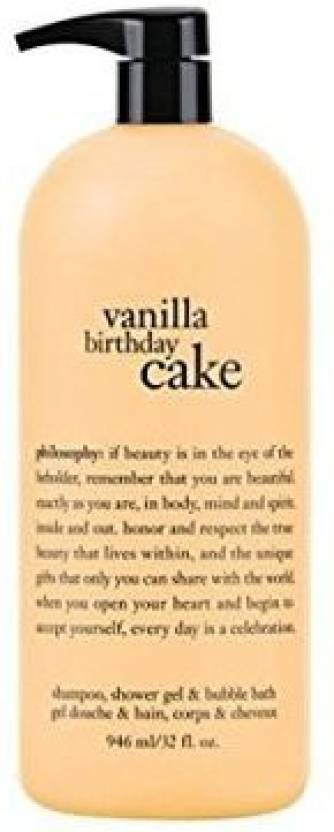 Generic Philosophy Vanilla Birthday Cake Shampoo Shower Gel Amp Bubble Bath