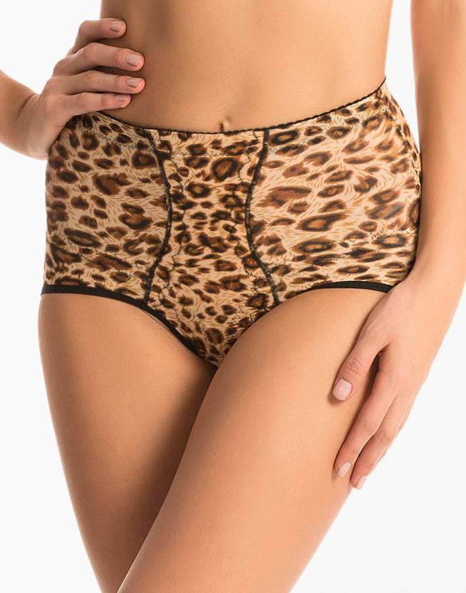75bf825d87 PrettySecrets Brown Leopard High Waist Shaping Brief Women s Shapewear - Buy  Black