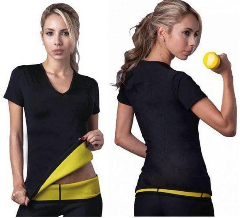 65ae8eedf6289 Hotshaper Neotex T Shirt Hot Shapers Stretch Neoprene Slimming Vest Body  Control Vest Tops Gym (Black)