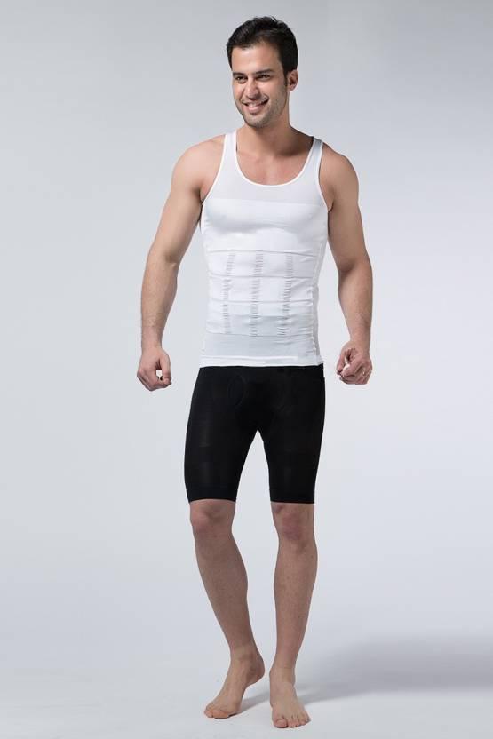 32c3f896a368e Slim N Lift Men s Shapewear - Buy White Slim N Lift Men s Shapewear Online  at Best Prices in India