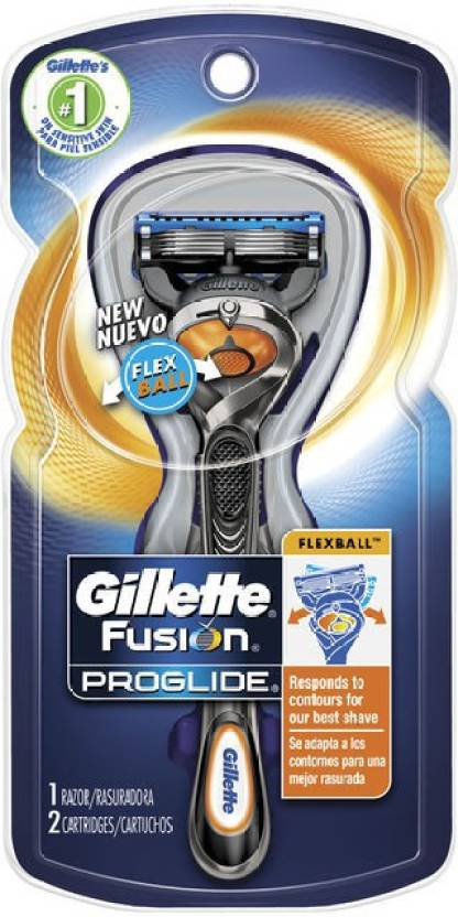 Gillette Fusion Proglide Flexball 97554067 Shaver For Men (Metallic Silver Black)