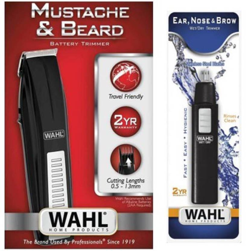 Wahl 5537-4434 5567-324 Mustache Beard With Nosal Trimmer, Ear, N...
