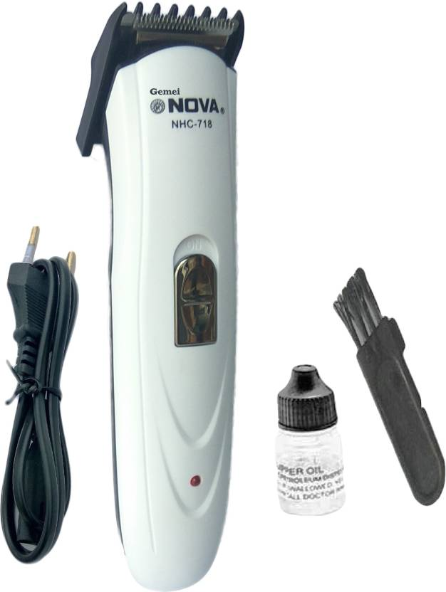 Gemei Nova NHC-718 White Professional hair Clipper Trimmer For Me...
