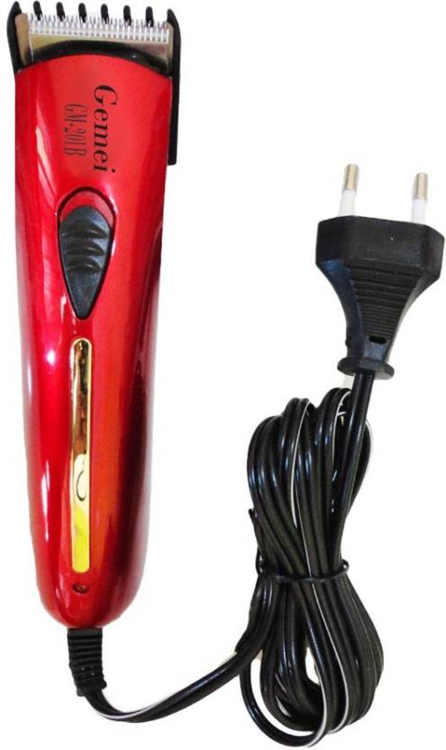 Gemei Body Groomer GM-201B Trimmer For Men (Red)