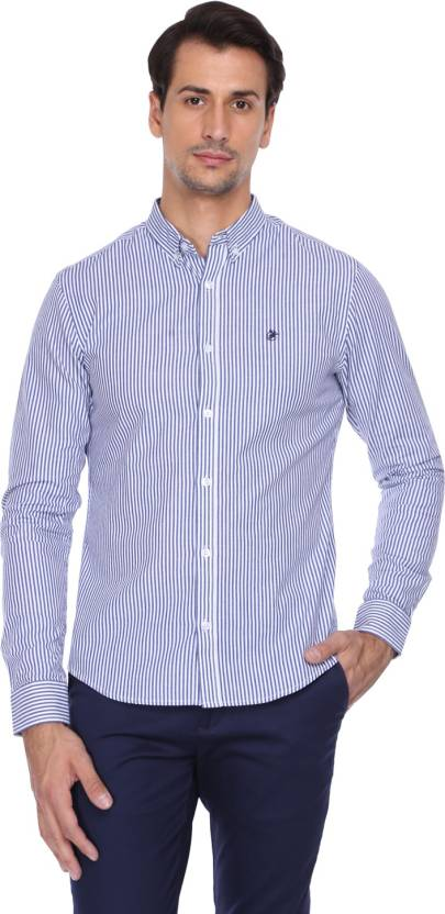 868c6af0 Hunt and Howe Men's Striped Casual Dark Blue, White Shirt - Buy Hunt ...