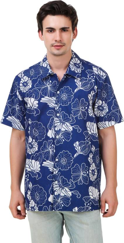 9761adde441f Mind The Gap Men's Floral Print Party Blue Shirt - Buy Blue Mind The Gap  Men's Floral Print Party Blue Shirt Online at Best Prices in India |  Flipkart.com