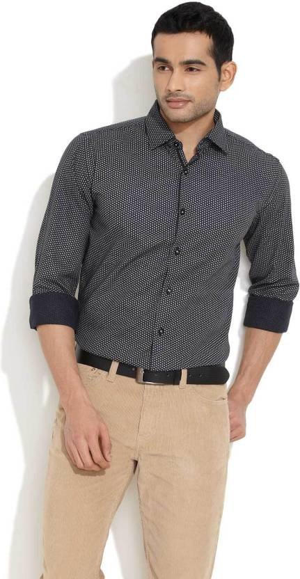 d36f35c5f54 Beleville Men s Polka Print Casual Shirt - Buy Black Beleville Men s Polka Print  Casual Shirt Online at Best Prices in India