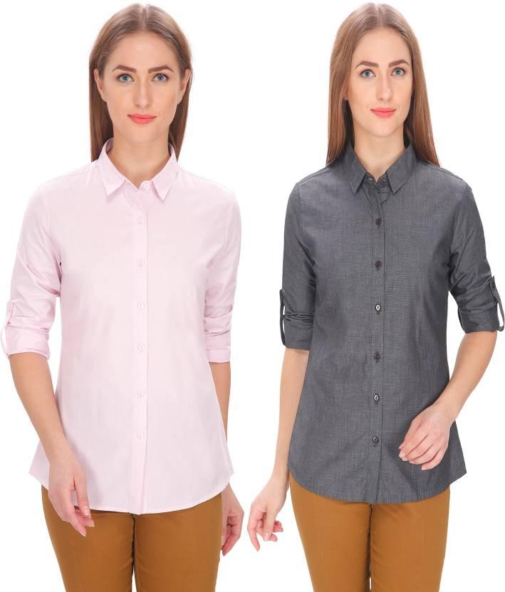 d8c7d7189d4fa Leaf Women s Solid Formal Pink