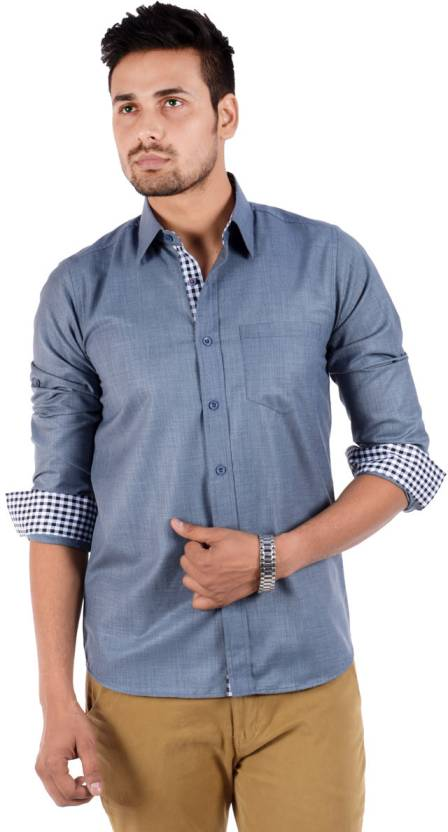 6942e5b2713 S9 Men s Solid Casual 2 pc collar Shirt - Buy Grey S9 Men s Solid Casual 2  pc collar Shirt Online at Best Prices in India