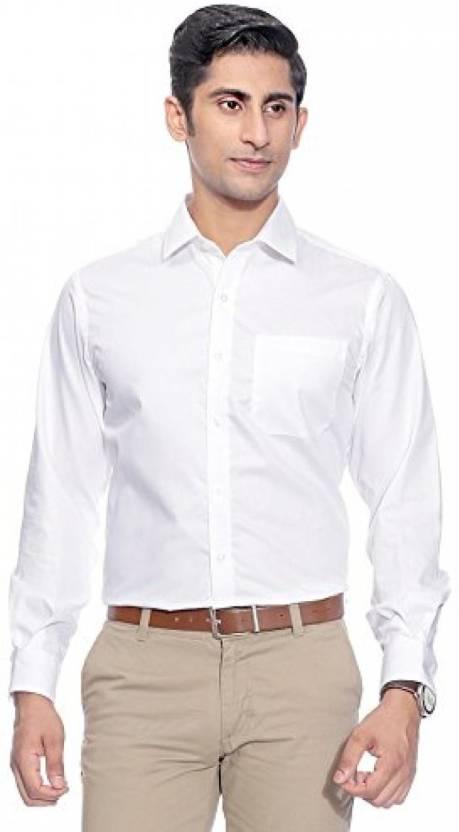 SWISSCOTT Men Solid Formal White Shirt - Buy SWISSCOTT Men Solid ...