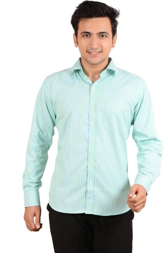 74e15fe97384 Bluebird Men's Striped Formal Shirt - Buy Green Bluebird Men's Striped  Formal Shirt Online at Best Prices in India | Flipkart.com