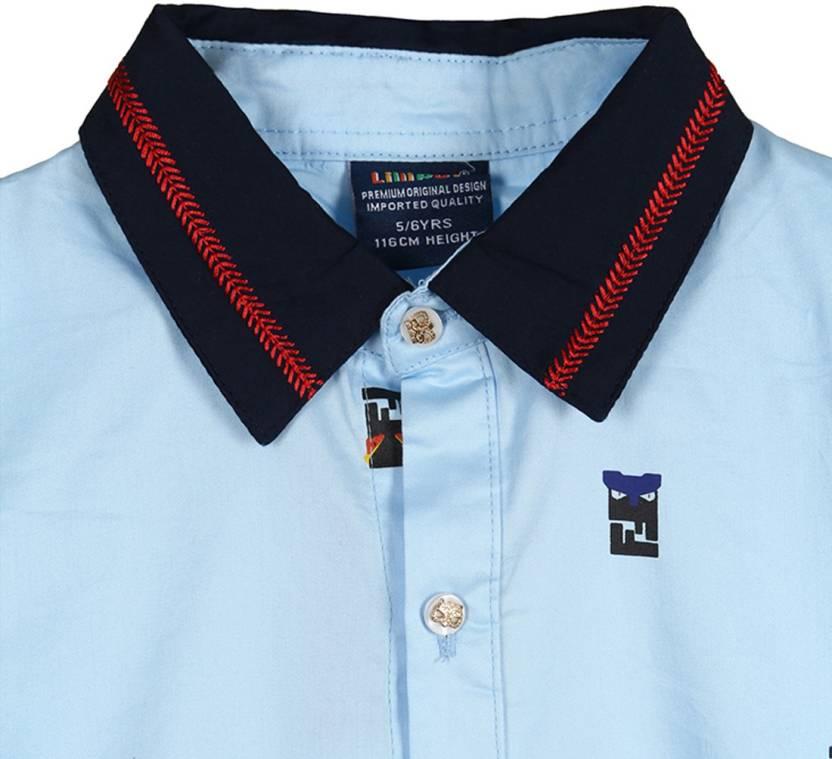 Lilliput Boys Printed Casual Shirt