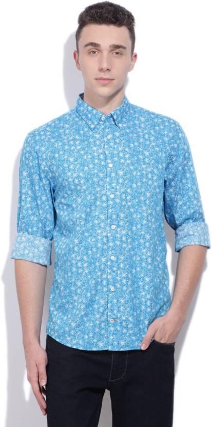 a28a9ca8d Tommy Hilfiger Men s Printed Casual Spread Collar Shirt - Buy METHYL BLUE-PT   CLASSIC WHITE Tommy Hilfiger Men s Printed Casual Spread Collar Shirt  Online ...