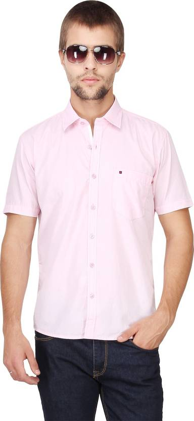 Cool Colors Men's Solid Casual Pink Shirt - Buy Pink Cool Colors ...