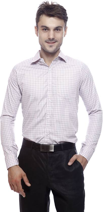 Exhort Fashion Men s Checkered Formal Semi Spread Collar Shirt - Buy ... 1239f9176