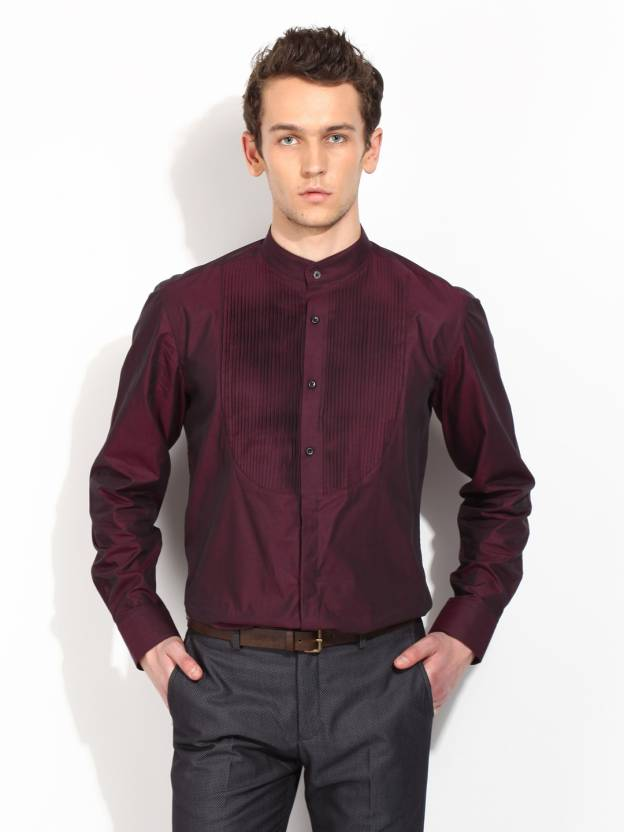 c24321d6b33 Blackberrys Men s Solid Casual Red Shirt - Buy MNAN16Q MAROON Blackberrys  Men s Solid Casual Red Shirt Online at Best Prices in India