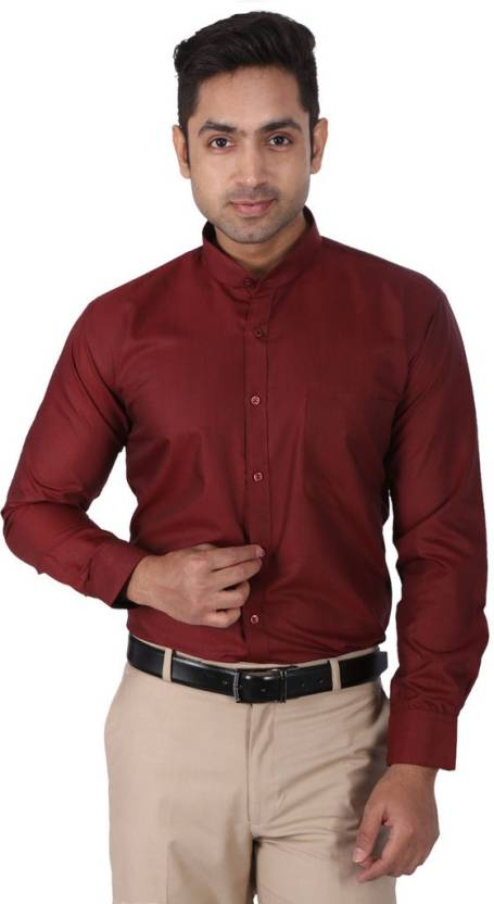 5e7d2cbef0b Warewell Men s Solid Formal Maroon Shirt - Buy Maroon Warewell Men s Solid  Formal Maroon Shirt Online at Best Prices in India