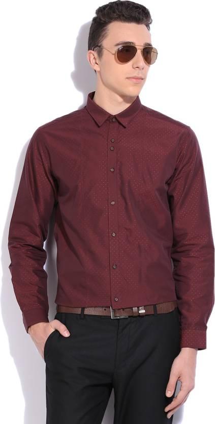 c944585cc97 V Dot by Van Heusen Men s Polka Print Party Spread Collar Shirt - Buy Dark  Red With Red V Dot by Van Heusen Men s Polka Print Party Spread Collar Shirt  ...