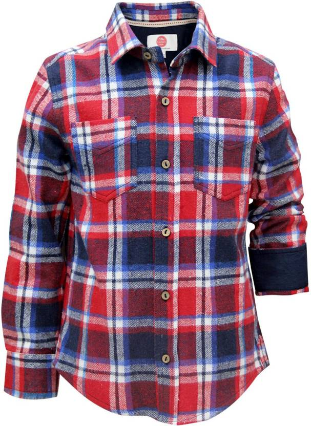 c6a897eeb097 The Cranberry Club Boys Checkered Casual Shirt - Buy BlueRed The Cranberry  Club Boys Checkered Casual Shirt Online at Best Prices in India