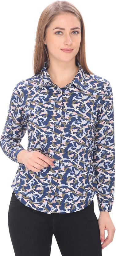 85664e12 Alfa Fashion Women's Animal Print Casual Multicolor Shirt - Buy Alfa ...