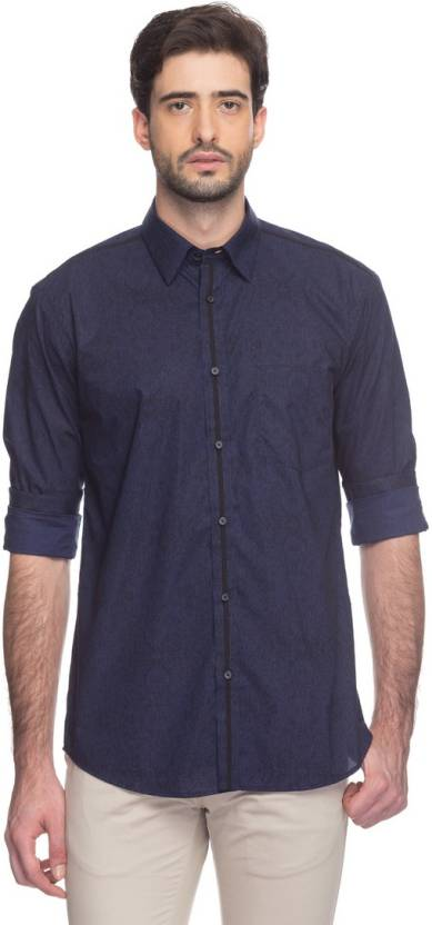 e39584bc7 Park Avenue Men s Printed Formal Black Shirt - Buy Black Park Avenue Men s  Printed Formal Black Shirt Online at Best Prices in India