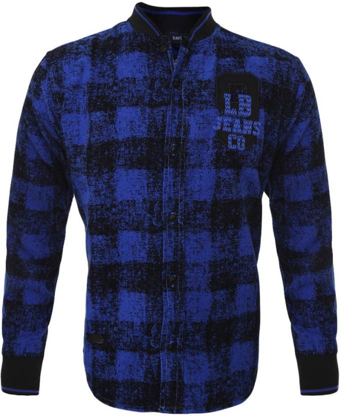 1ca458ac9 Lumber Boy Boys Printed Party Ribbed Collar Shirt - Buy Royal Blue ...