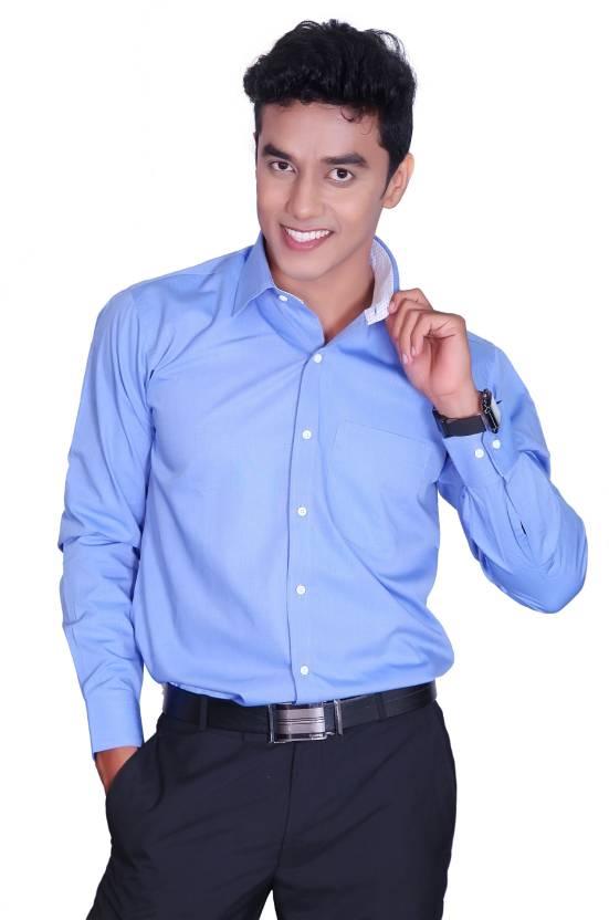 c5b2855806f5 Cotton King Men s Solid Formal Light Blue Shirt - Buy Light Blue Cotton  King Men s Solid Formal Light Blue Shirt Online at Best Prices in India