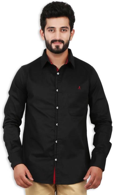 df5dd563bc6 Speak Men s Solid Casual Black Shirt - Buy Black Speak Men s Solid Casual  Black Shirt Online at Best Prices in India