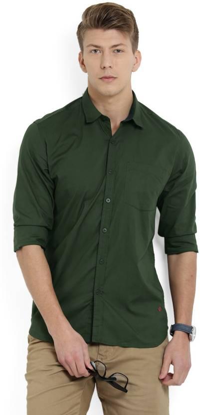 b8a10489d6 Numero Uno Men s Solid Casual Spread Shirt - Buy OLIVE Numero Uno ...