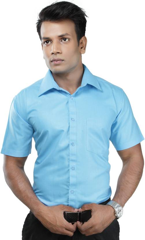 63205d8197d16 Zeal Men s Solid Formal Light Blue Shirt - Buy Light Sky Blue Zeal Men s  Solid Formal Light Blue Shirt Online at Best Prices in India