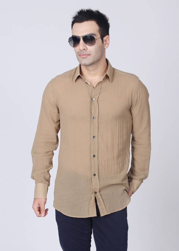 f96b4846cf63 Dolce   Gabbana Men s Solid Casual Shirt - Buy Brown Dolce   Gabbana Men s  Solid Casual Shirt Online at Best Prices in India