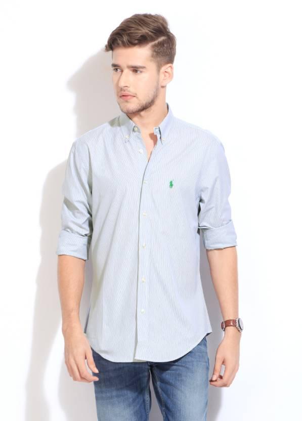 dbe6fca9a8 Polo Ralph Lauren Men's Striped Formal Shirt - Buy DARK BLUE WHITE Polo  Ralph Lauren Men's Striped Formal Shirt Online at Best Prices in India |  Flipkart. ...