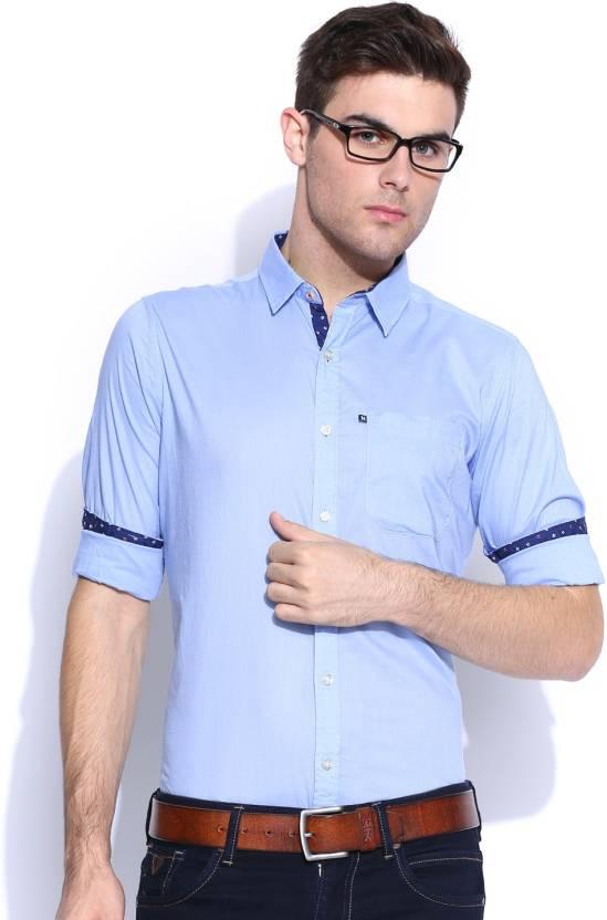 0933aa641 Harvard Men's Solid Casual Blue Shirt - Buy Clean Sky Harvard Men's Solid  Casual Blue Shirt Online at Best Prices in India   Flipkart.com