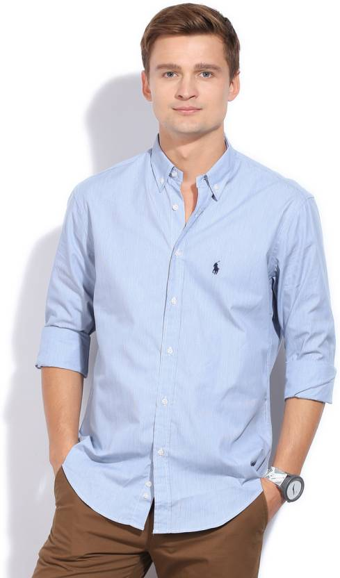 Polo Ralph Lauren Men s Solid Formal Spread Collar Shirt - Buy Blue Polo Ralph  Lauren Men s Solid Formal Spread Collar Shirt Online at Best Prices in  India ... 9adf65919