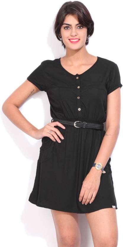 Lee Cooper Casual Cap Sleeve Solid Women s Black Shirt - Buy BLACK ... 354ac1dc2965