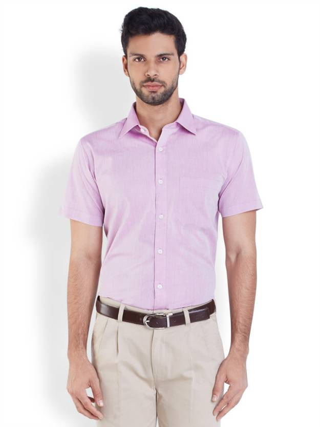 Raymond Men's Solid Formal Purple Shirt