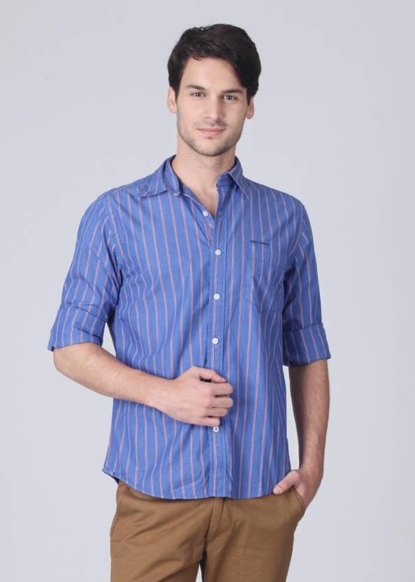a65625f5a5 Pepe Jeans Men s Striped Casual Blue