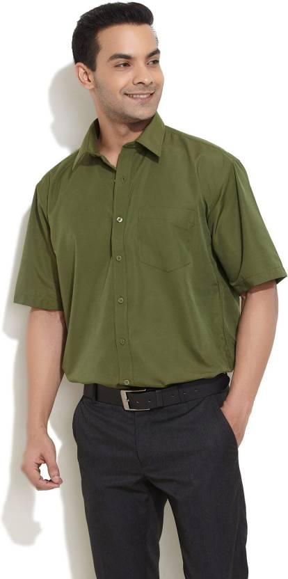 8e9425585 Independence Men's Solid Formal Shirt - Buy Olive green Independence Men's  Solid Formal Shirt Online at Best Prices in India | Flipkart.com
